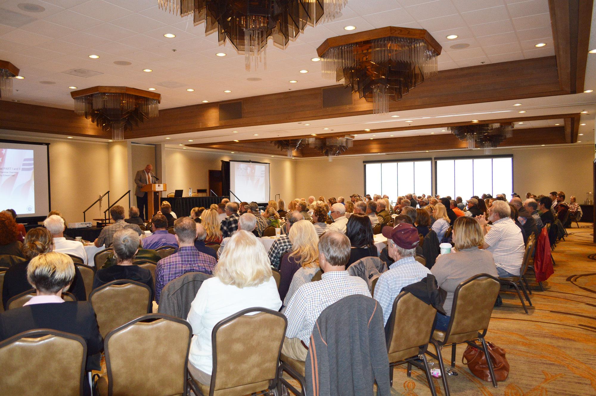 seminar room full of people